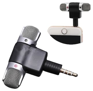 Crystal Digital  3.5mm   Black Mini Lavalier Mic Microphone for Voice Chat, Video Conferencing & Recording