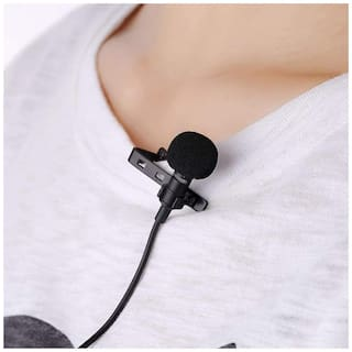 Crystal Digital 3.5mm Clip On Mini Lapel Lavalier Microphone Collar Mic Great for Voice-Overs, Interviews, Vlogs