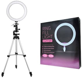 Crystal Digital Big LED Selfie Ring Light with 3110 Tripod for Camera Smartphone to Capture Photo and Video with 3 Mode Light