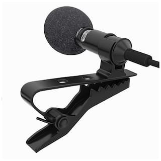 Crystal Digital Caller Audio Microphone 3.5mm Jack Plug Mic Stereo Mini Lapel Wired Collar MIC