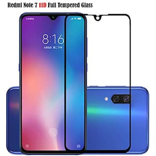 Buy Ctel Tempered Glass 11D Compatible for Redmi Note 7 Zero Bubbles