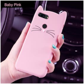 Cellshop Silicone Designer Back Cover For Oppo A5s (AX5s) ( Pink )