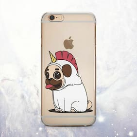 Cute Puppy Pug Unicorn Silicone iPhone 11 SE2 Case Cover iPhone 6 7 Plus X XS XR