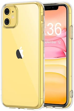 D CAT Silicone Back Cover For Apple iPhone 11 ( Transparent )