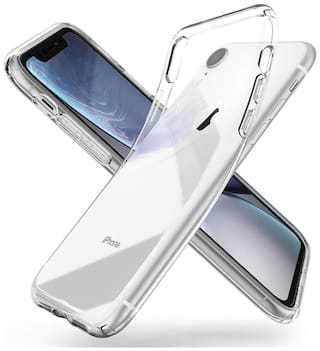 D CAT Silicone Back Cover For Apple iPhone XR ( Transparent )