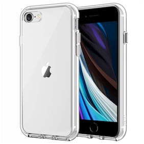 D CAT Silicone Back Cover For Apple iPhone SE 2020 ( Transparent )