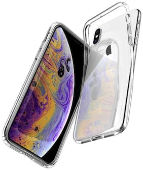 D CAT Silicone Back Cover For Apple iPhone X ( Transparent )