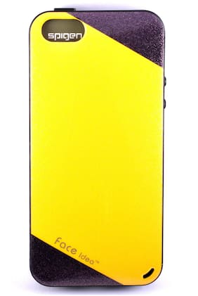 D-Dime Back Cover For Apple iPhone 5 (Yellow)