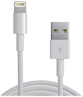 Data Sync Charging Cable USB 2.0 Compatible With iPhone 5 / 6 / 6s / 6 plus / SE - White 1 meter