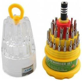 DEAL BEST  31 Pieces Magnetic Screw Driver Tool Kit J A For Mobiles..