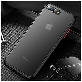 Apple iPhone 8 Plus Plastic Back Cover By DealClues ( Black )