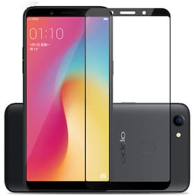DealClues Edge to Edge Tempered Glass For Oppo F5 - BLACK