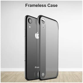 Apple iPhone XR Plastic Back Cover By DealClues ( Black )