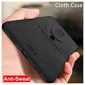 Deer Case Anti Slip Grip and Camera Protection Back Cover for Xiaomi Poco F1 (Black)