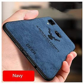 Deer Series - Shockproof Anti Slip Soft Fabric Case with with Camera Protection Protective Back Case Cover for Samsung Galaxy M40 / Samsung Galaxy A60 (Blue)
