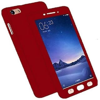 release date: 6dca0 2c690 DHAN GRD 360 Degree Full Body Protection Front & Back Case Cover (iPaky  Style) for Oppo NEO 7 With Tempered Glass - Red