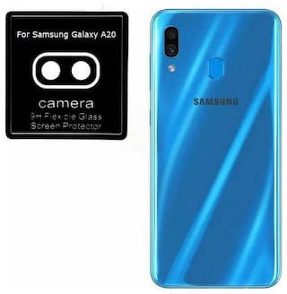 DigiArm Samsung Galaxy A20 Camera Lens Protector Flexible Nano Tempered Glass