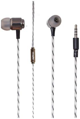 digitek In-Ear Wired Headphone For All Smartphones (Brown)