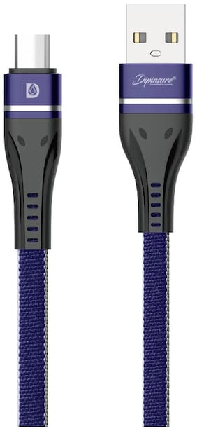 Dipinsure Data & Charging Type-C Cable ( 1.2 m , Blue )