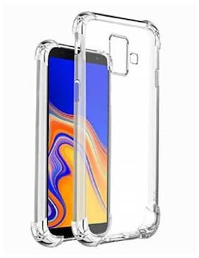 Samsung Galaxy J6 Plus Rubber Back Cover By DMJHP ( Transparent )