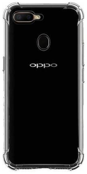 OPPO A7 Rubber Back Cover By DMJHP ( Transparent )