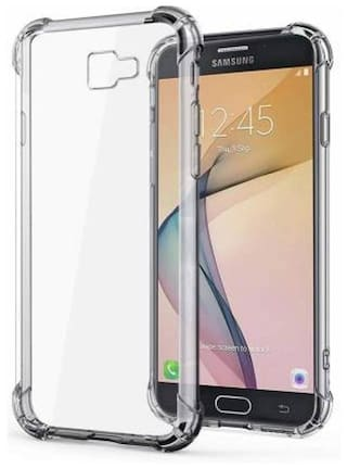 DMJHP Rubber Back Cover For Samsung Galaxy J7 Prime ( Transparent )