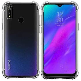 Realme 3 Rubber Back Cover By DMJHP ( Transparent )