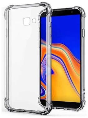 Samsung Galaxy J4 Plus Rubber Back Cover By DMJHP ( Transparent )