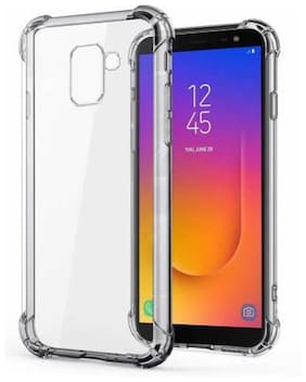 DMJHP Rubber Back Cover For Samsung Galaxy J6 ( Transparent )