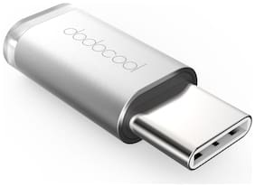 dodocool Mini USB-C to Micro USB Adapter Convert USB Type-C to Micro-USB Connector for MacBook / ChromeBook Pixel / Nexus 5X / Nexus 6P / OnePlus Two / Nokia N1 / Type C Supported Device Silver