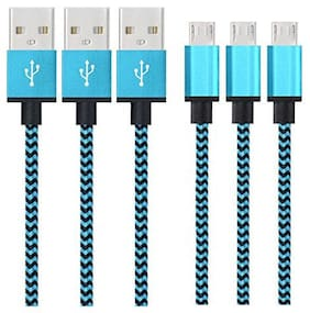 IMMUTABLE Data & Charging Micro USB Cable ( 1.2 cm , Assorted )