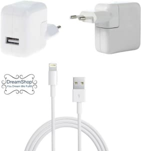 DreamShop 2.1A  Hi Quality Iphone Charger For Iphone 5,5S ,6 ,6S ,6Plus , 6S Plus ,7 , 7 Plus ,8, 8S , X Ipad