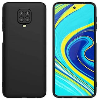 DRUTHERS Silicone Bumper Case For Redmi Note 9 Pro Max ( Black )