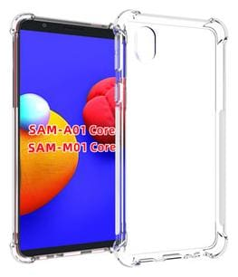 DRUTHERS Samsung Galaxy M01 Core Silicone Shockproof Bumper Back Cover in Transparent for Samsung M01 Core