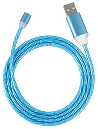DSS Smart Charging Only 3 in 1 (Lightning & Micro USB & Type-C) Cable ( 1 m , Blue )