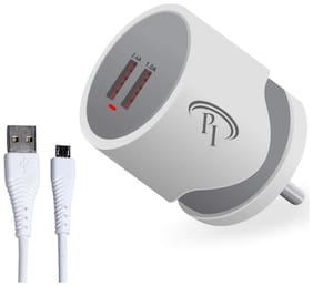 Pacific International 3.1 A Fast Charging Wall Charger - 2 USB Ports 7 3.1 A Fast Charging Wall Charger - 2 USB Ports Multi Pin Cable