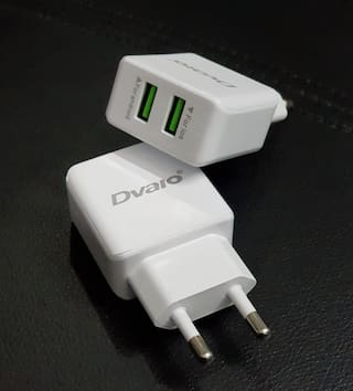 DVAIO 2 PORT 3 Amp TURBO CHARGER WITH FAST CHARGING AND MICRO DATA CABLE & APPLE CONNECTOR