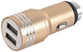 E-Calorie MT-280 3.1 AMP 2 USB Charger Gold