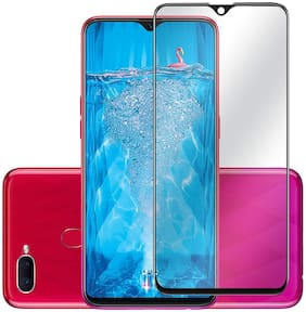 E-COSMOS Full Glue Oppo F9 Pro 6D Tempered Glass, Full Edge-to-Edge 6D Screen Protector (Black