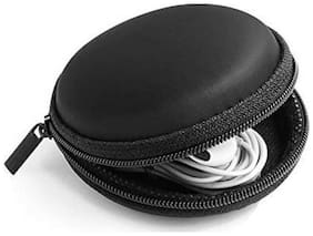 Earphone Round Pouch - Multi Purpose Pocket Storage Case for Headphone, Pen Drives, Memory Card, Data Cable