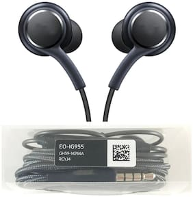 T3S Earphones Compatible with Samsung Note 8/S8 Plus /S9 Plus with 3.5 mm Jack and Remote Mic (Black). In-Ear Wired Headphone ( Black )