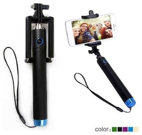 Eazories Selfie Stick 360 Degree Adjustable Monopod with Built-in Remote 3.5Mm Jack Aux Cable Compatible with Android- Smartphones