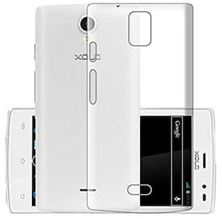 best service c8464 f3925 Buy ECellStreet Back Cover For Xolo Q600 Club (Transparent) Online ...