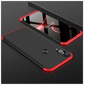 eCosmos Double Dip Full Protection Back Cover Case for Huawei P20 Lite/ P20 Lite (Red And Black)