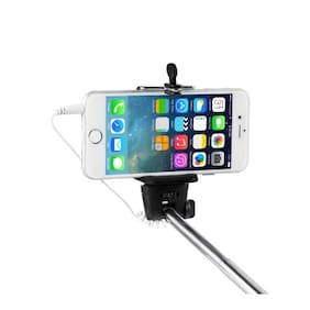 eCosmos EC-SELFIE || Ultimate Selfie Stick Monopod With Easy Aux Cable (Asorted Colors)