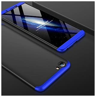 ECOSMOS Vivo Y71/y71 Case 3 in1 360 Anti Slip Super Slim Back Cover for  Vivo Y71/y71 (Blue And Black)