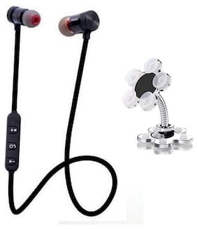 Editrix Combo of Magnet Earphone + VIP Mobile Stand