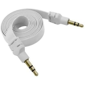 eGizmos Aux Cable For MP3 Player/Mobile/ Home Stereo/Speakers/Car Stereo (White)