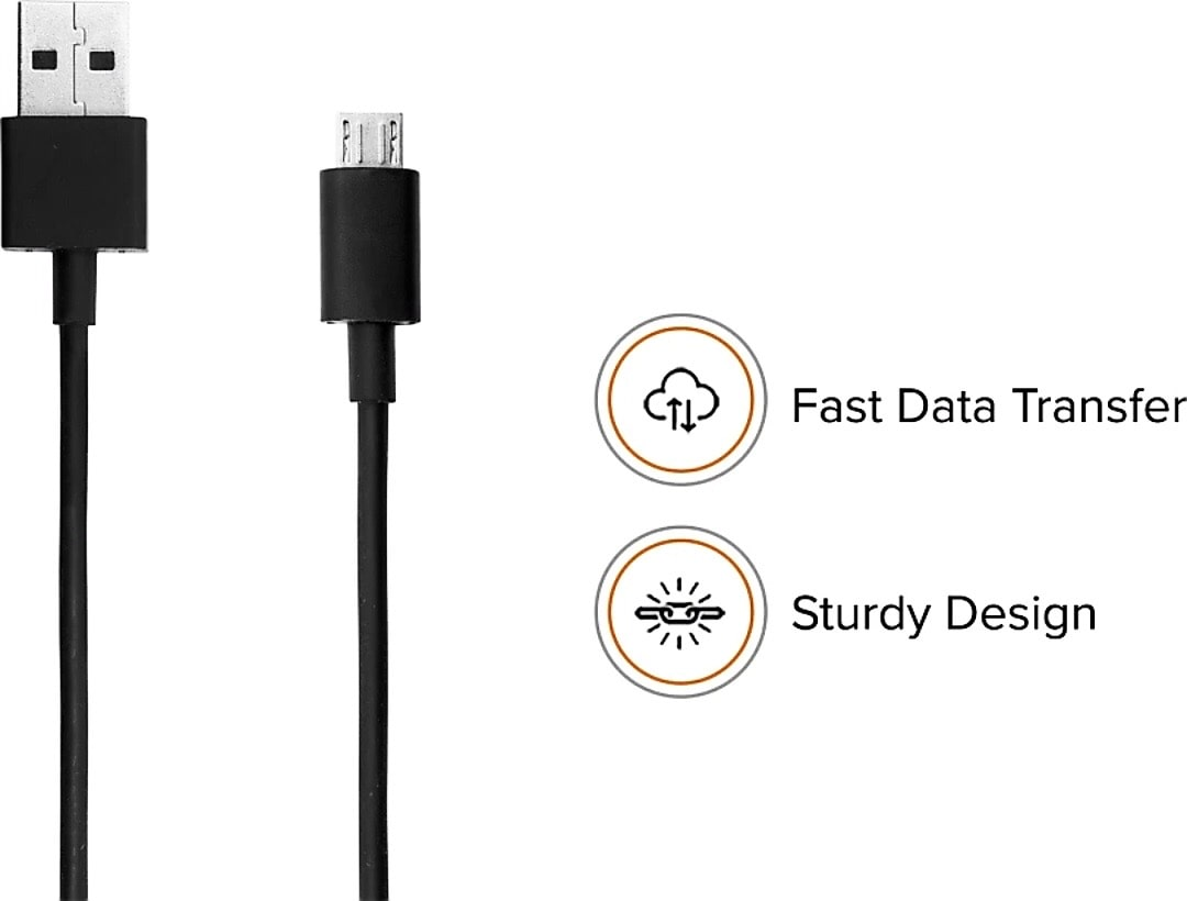 Electmart Original Data Cable DC 02 Data   Charging Micro USB   2 in 1  Lightning   Micro USB  Cable   1.2 m , Black