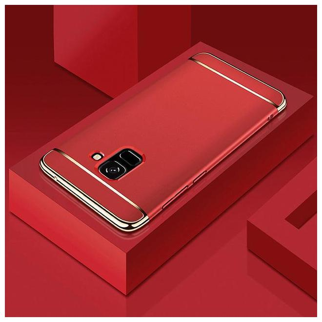 FOKATKART Plastic Back Cover For Samsung Galaxy J6 ( Red )